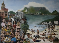 Cape Town scene - beach, mountain, caf� & street by Gietl, Karl