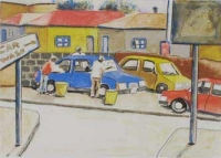 Car Wash by Nhlengethwa, Sam