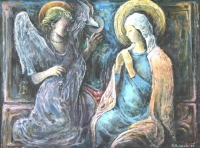 Mary with Angel by Baldinelli, Armando