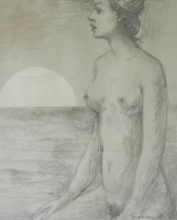 Nude at Sunset by Baldinelli, Armando