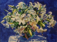 Blue floral by Batha, Gerhard