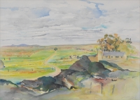 Landscape with House by Gottlieb, Vivian