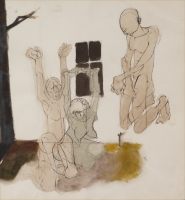 Three Figures by Feni, Dumile