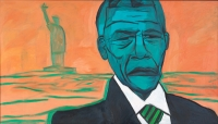 Nelson Mandela in New York by Miller, Amos