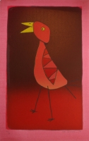 Small pink bird II by Schimmel, Fred