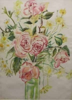 Flowers in vase by Cheales, Richard