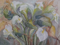 Fantasy Of Green Arum Lillies by Hoppen, Jean