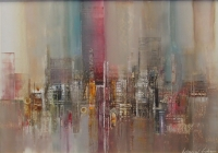 Abstract Cityscape Ii by Fisher, Julian