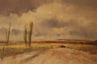 Muddy Farm Road With Cattle by Tugwell, Chris